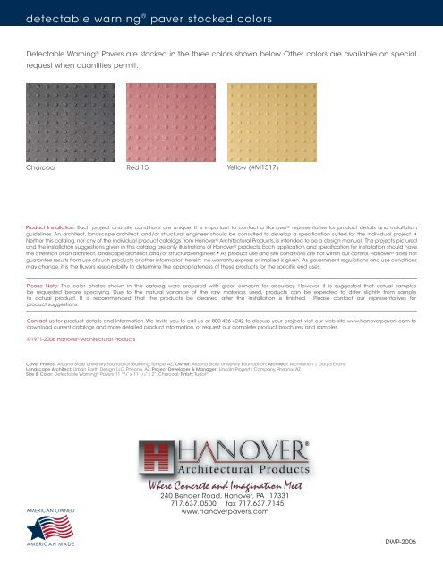Download - Hanover® Architectural Products