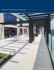 1 Hanover® Architectural Products | 2011 Green Products Guide