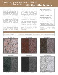 Granite Paver Flyer - Hanover® Architectural Products