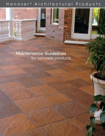 Maintenance Guidelines - Hanover® Architectural Products