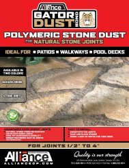 polymeric stone dust - King Quarry