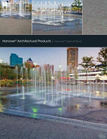 Asphalt Block Brochure - Hanover® Architectural Products