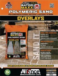 1916 – Gator Maxx Polymeric Sand - Hanover® Architectural Products