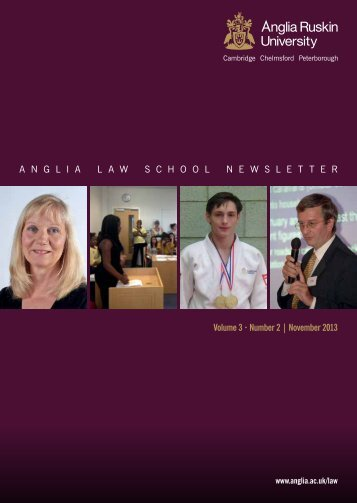 Anglia Law School newsletter Winter 2013-14