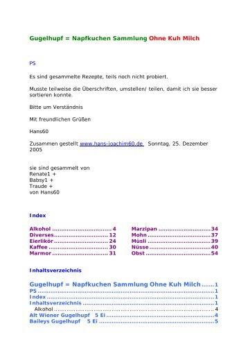 Gugelhupf - Glutenfrei kochen backen