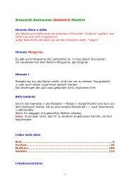 Amaranth Backwaren Glutenfrei Maisfrei - Glutenfrei kochen backen