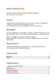 Bohnen Glutenfrei Eifrei - Glutenfrei kochen backen