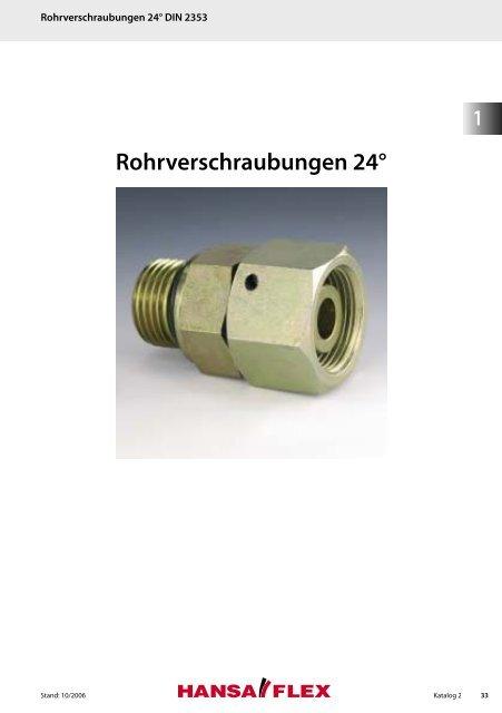 Rohrverschraubungen 24° - Hansa Flex