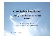 Dr. H. M. Clausen - Botulismus - HANSA Landhandel