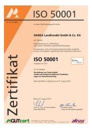 ISO 50001 - HANSA Landhandel