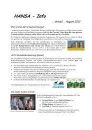 Rundschreiben 1 August 2012 - HANSA Landhandel