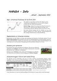 Rundschreiben 1 September 2012 - HANSA Landhandel