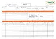 Formular Ackerschlagkartei - HANSA Landhandel