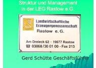 Struktur und Management in der LEG Rastow - HANSA Landhandel