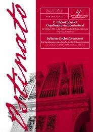 Ostinato 1 2005 - Vorarlberger Landeskonservatorium