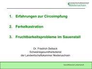 Fruchtbarkeitsprobleme im Sauenstall, Ferkelkastration und ...