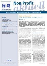 Non Profit aktuell 06 - Hansaberatung GmbH