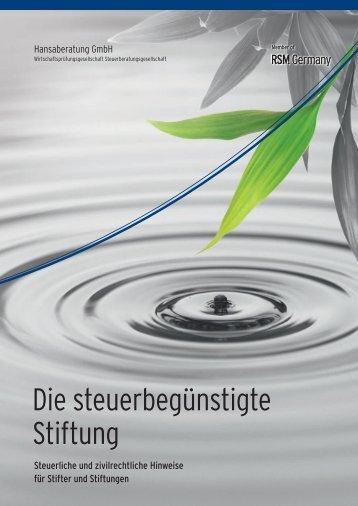 Die steuerbegünstigte Stiftung - Hansaberatung GmbH