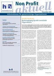 Non Profit aktuell 11 - Hansaberatung GmbH
