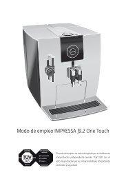 Manual de instrucciones, Modo de empleo JURA ... - HANSA CAFE