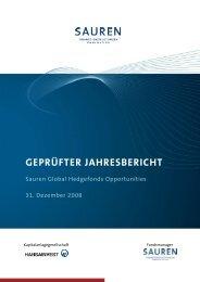 GEPRÜFTER JAHRESBERICHT - Hansainvest