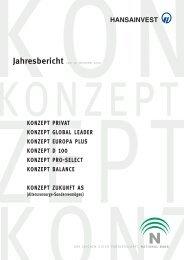 Konzept D 100 Das Wichtigste in Kürze - Hansainvest