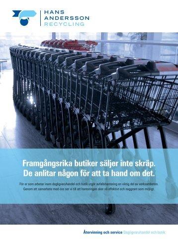 Dagligvaruhandel och butik Återvinning och service