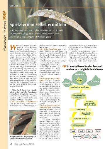Septoria - Spritztermin selbst ermitteln - Hanse Agro