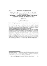 The legal conflict regarding the privatization of socially owned ...