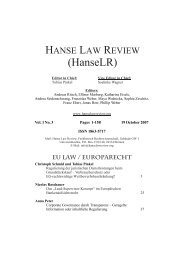 Contents - Hanse Law Review