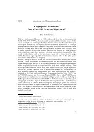 Copyright in Internet - Hanse Law Review