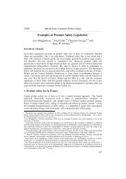 Examples of Product Safety Legislation - Hanse Law Review