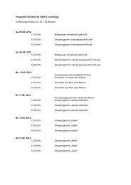 Vorführungen Dauer ca. 20 – 30 Minuten Sa. 08.09 ... - HanseLife