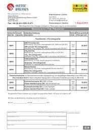 1. August 2012 Fax: +49 (0) 421.3505-15 471 - HanseLife
