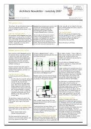 Architects Newsletter – June/July 2007 - Hansen Group