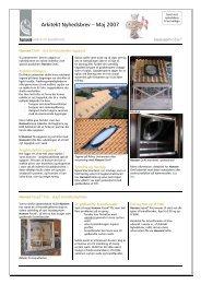 Arkitekt Nyhedsbrev - Maj 2007.pdf - Hansen Group