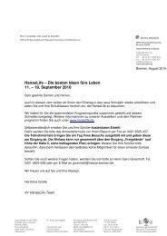 HanseLife – Die besten Ideen fürs Leben 11. – 19. September 2010