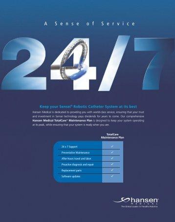 Service Brochure [PDF] - Hansen Medical