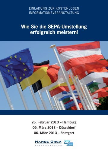 Wie Sie die SEPA-Umstellung erfolgreich meistern! - Hanse Orga AG