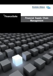 FinanceSuite Produktbroschüre - Hanse Orga AG