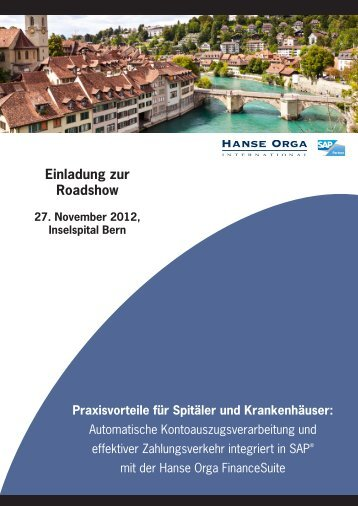 Flyer_Spitäler Roadshow Bern_27.11.12.indd - Hanse Orga AG