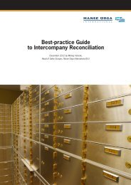 Best-Practice Guide to Intercompany Reconciliation - Hanse Orga AG