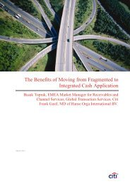 The Benefits of Moving from Fragmented to Integrated Cash - Citibank