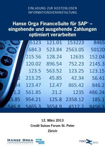 eingehende und ausgehende Zahlungen optimiert ... - Hanse Orga AG