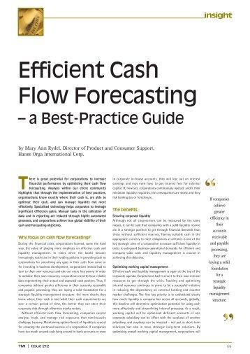 Efficient Cashflow Forecasting - a Best-Practice ... - Hanse Orga AG