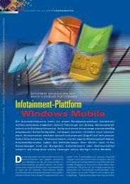 Infotainment-Plattform - HANSER automotive