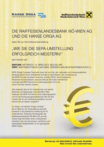 Wie sie Die sePa-umstellunG eRfOlGReicH ... - Hanse Orga AG