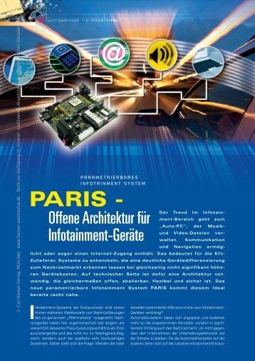 PARIS - - HANSER automotive