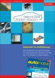 Elektronik im Kraftfahrzeug - HANSER automotive