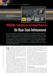 für Rear-Seat-Infotainment - HANSER automotive